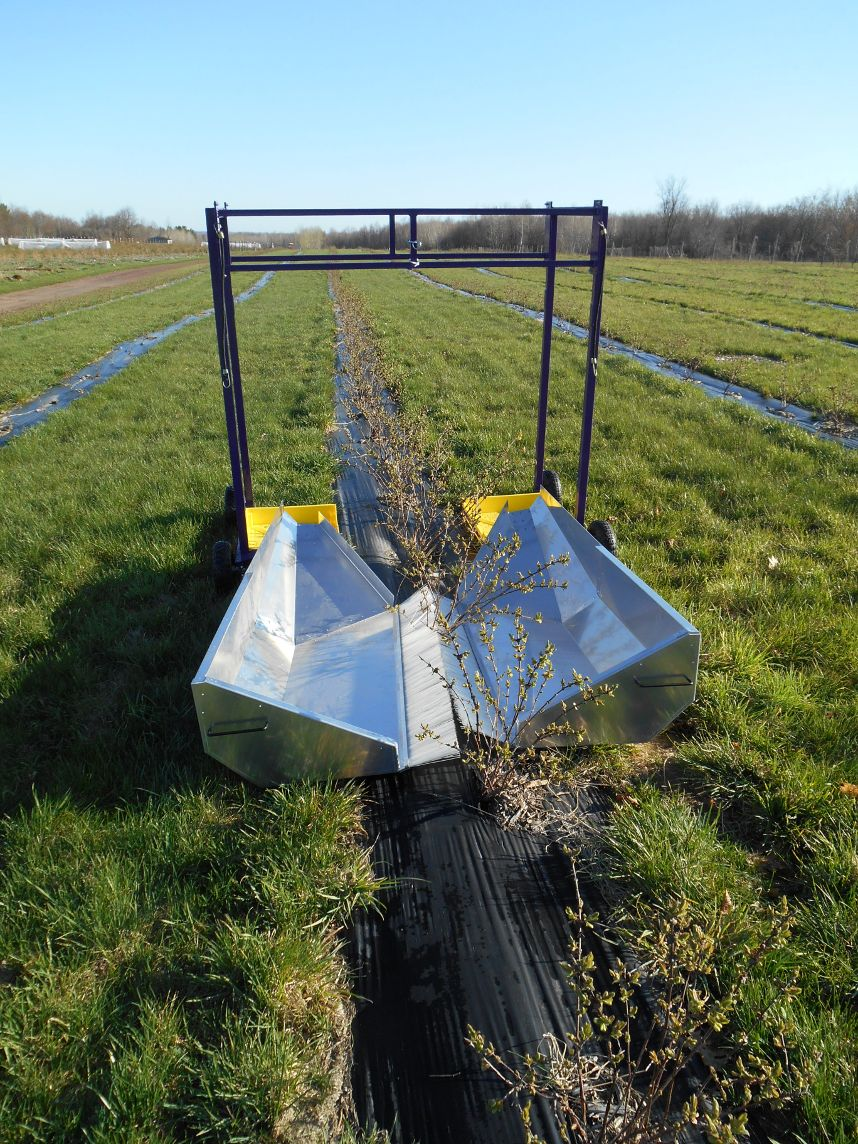 We now sell harvesters, deleafers, fruit trays and bird netting